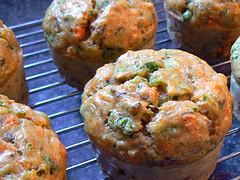 Savory muffin closeup