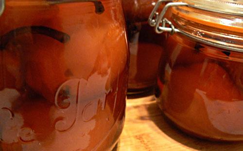 Belgian pears jars