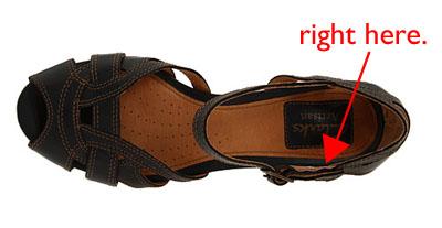 Shoe-arrow