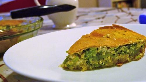 Broccoli tortilla pie